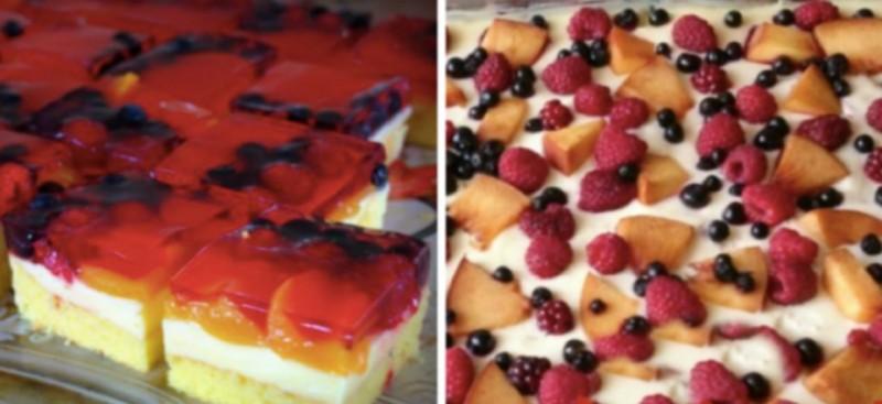 Nejjemnější lehký letní piškot s ovocem a tvarohem recept