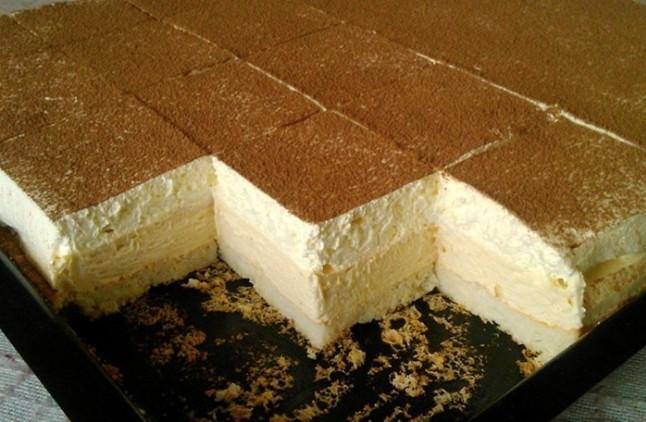 Smetanové kostky, ledový koláč recept