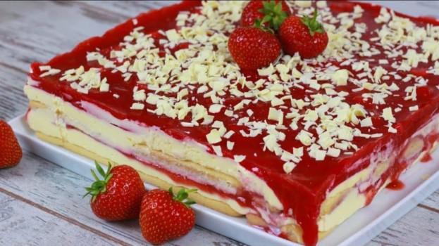 Jahodová smršť – dezert BEZ pečení lepší než nanukový dort