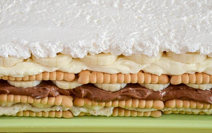 Hříšný dort s banány bez pečení