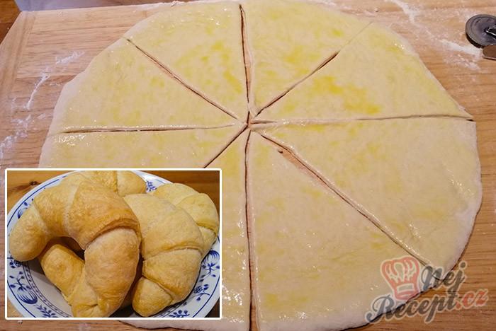 Měkoučké máslové rohlíky i pro úplné začátečníky.