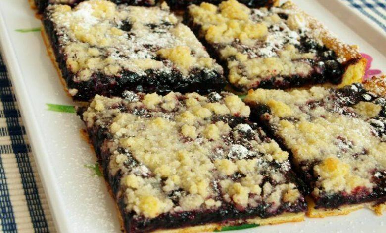 Borůvkový koláček od Nadi