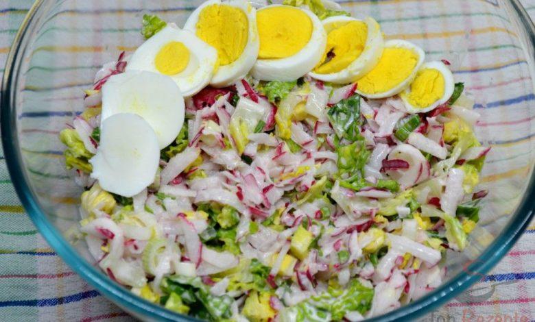 Ředkvičkový salát s jogurtovou zálivkou