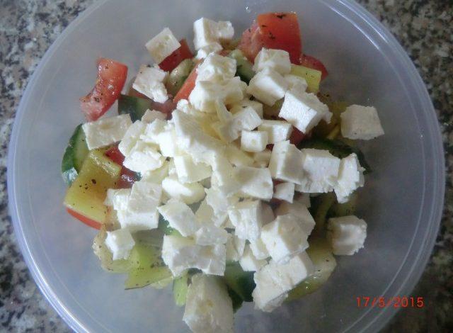 Zeleninový salát s balkánem