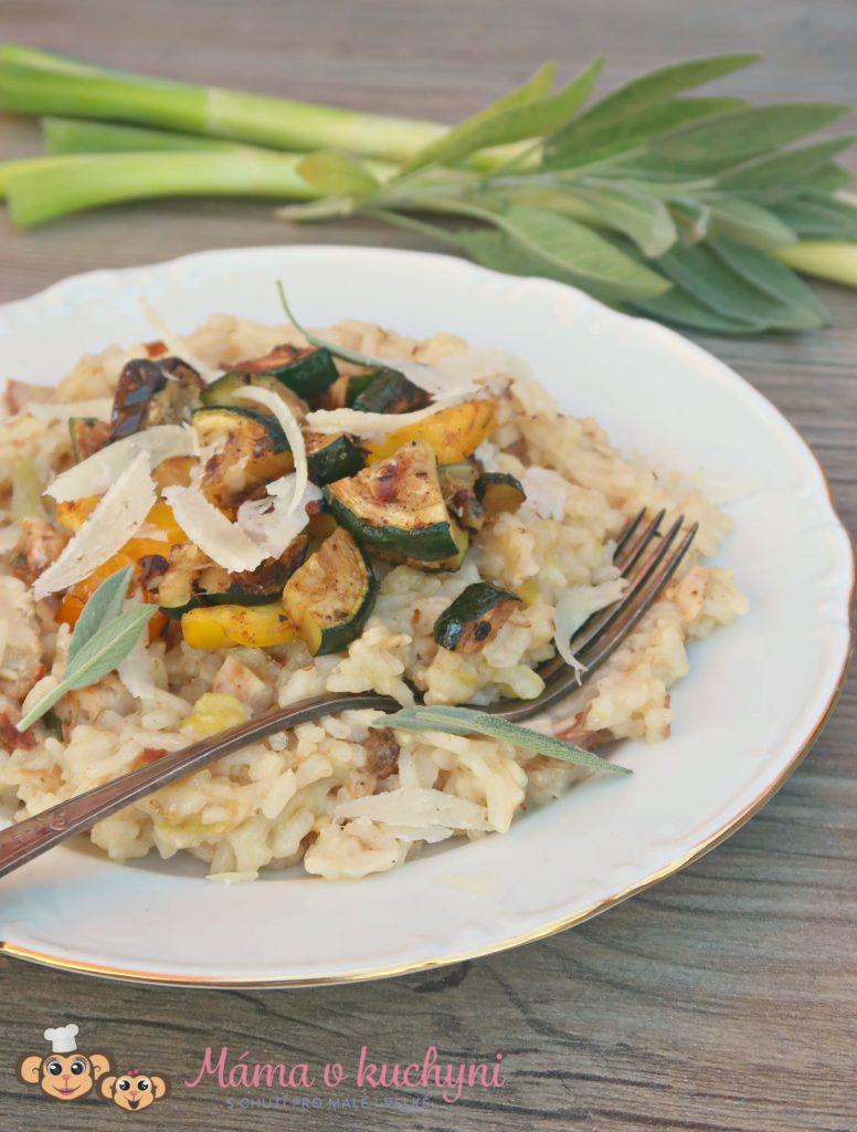 Cuketové rizoto s kuřecím masem (od 8 měsíců)