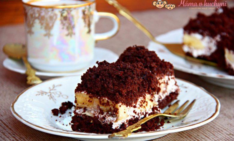 Odlehčený krtkův dort na plech