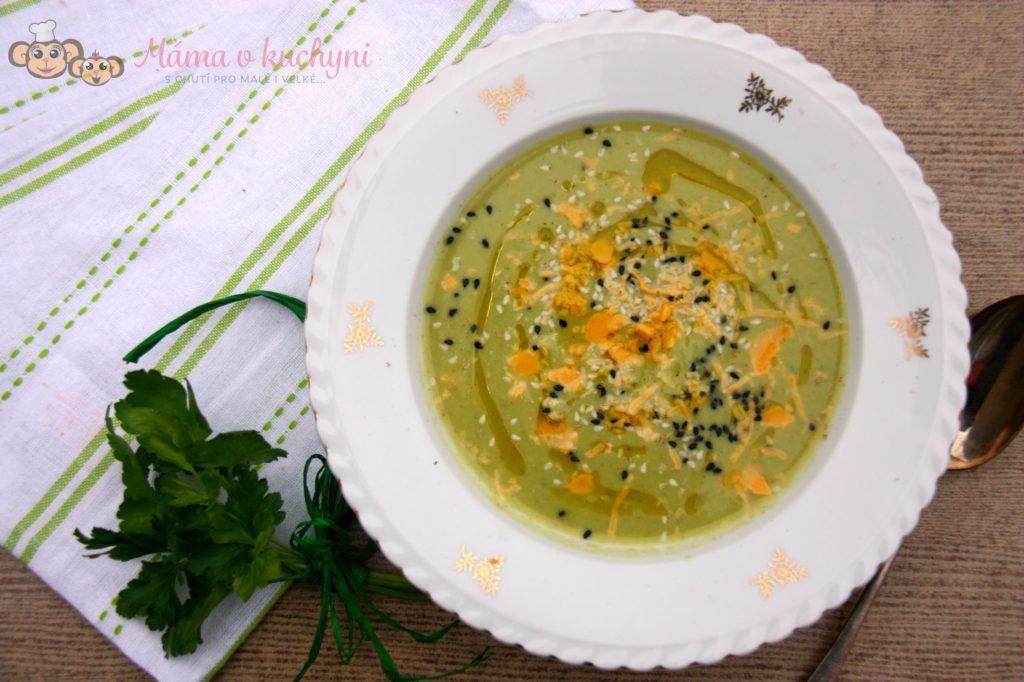 Brokolicovo-hrášková krémová polévka (od 8 měsíců)