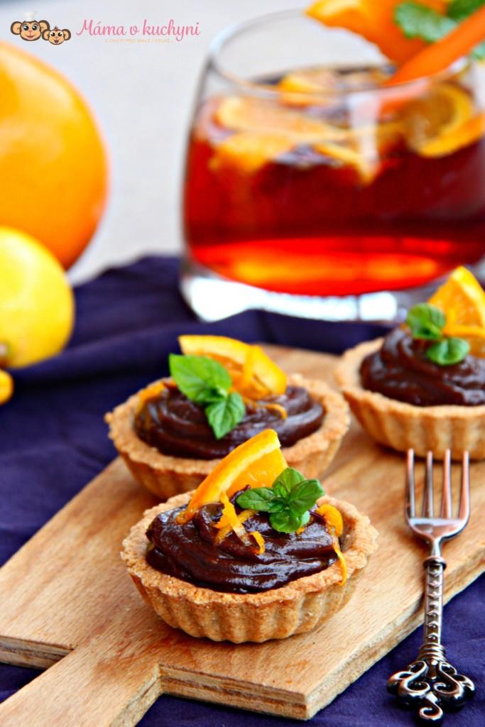 Tartaletky s čokoládovým orange curd (od 2 – 3 let)