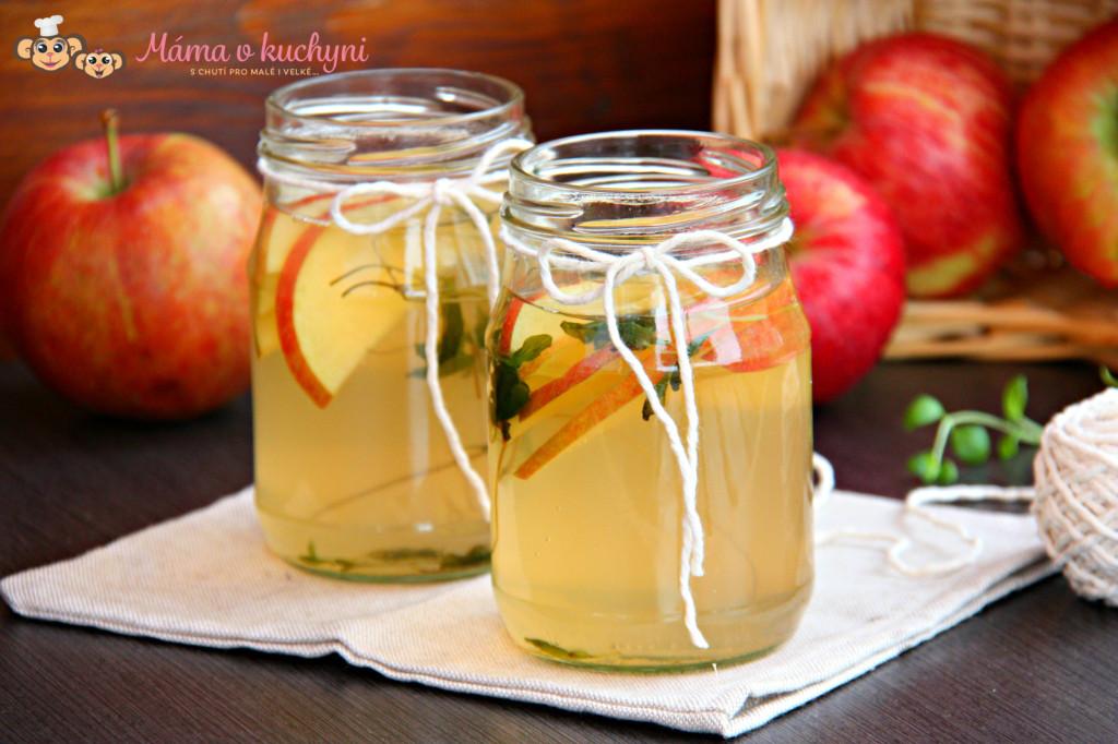 Ledový jablečný čaj s majoránkou (od 6 měsíců)