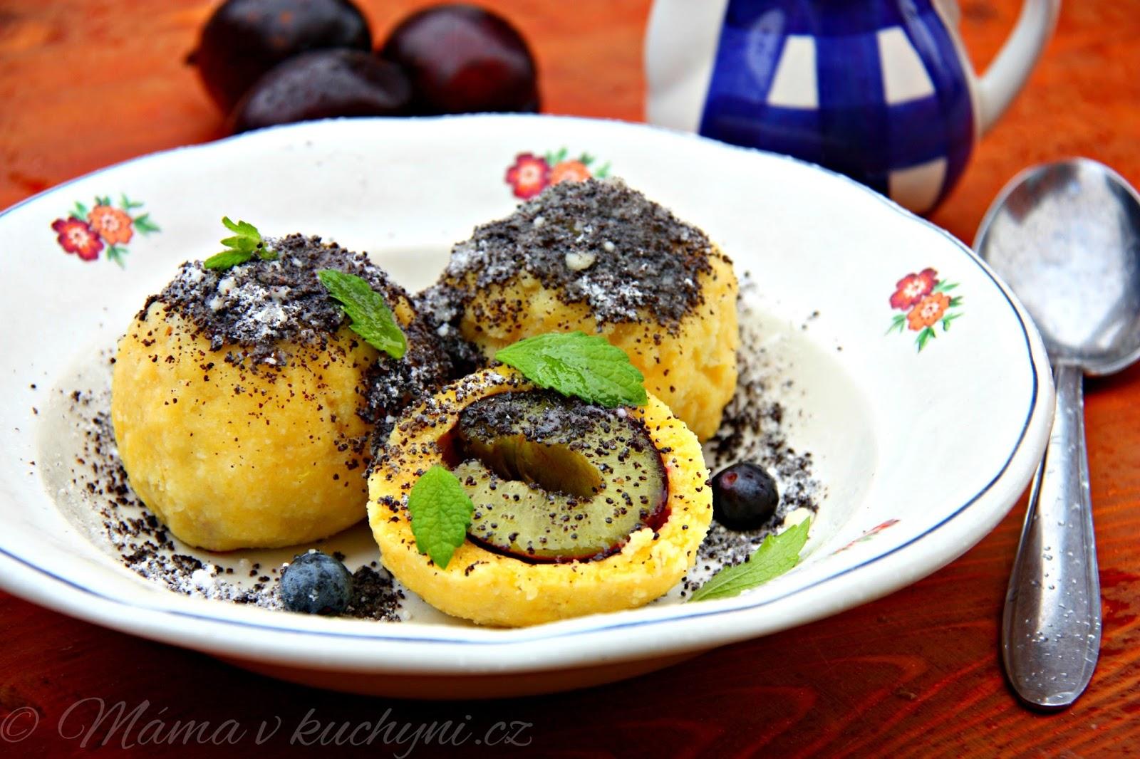 Bramborovo-polentové ovocné knedlíky (od 6 měsíců)