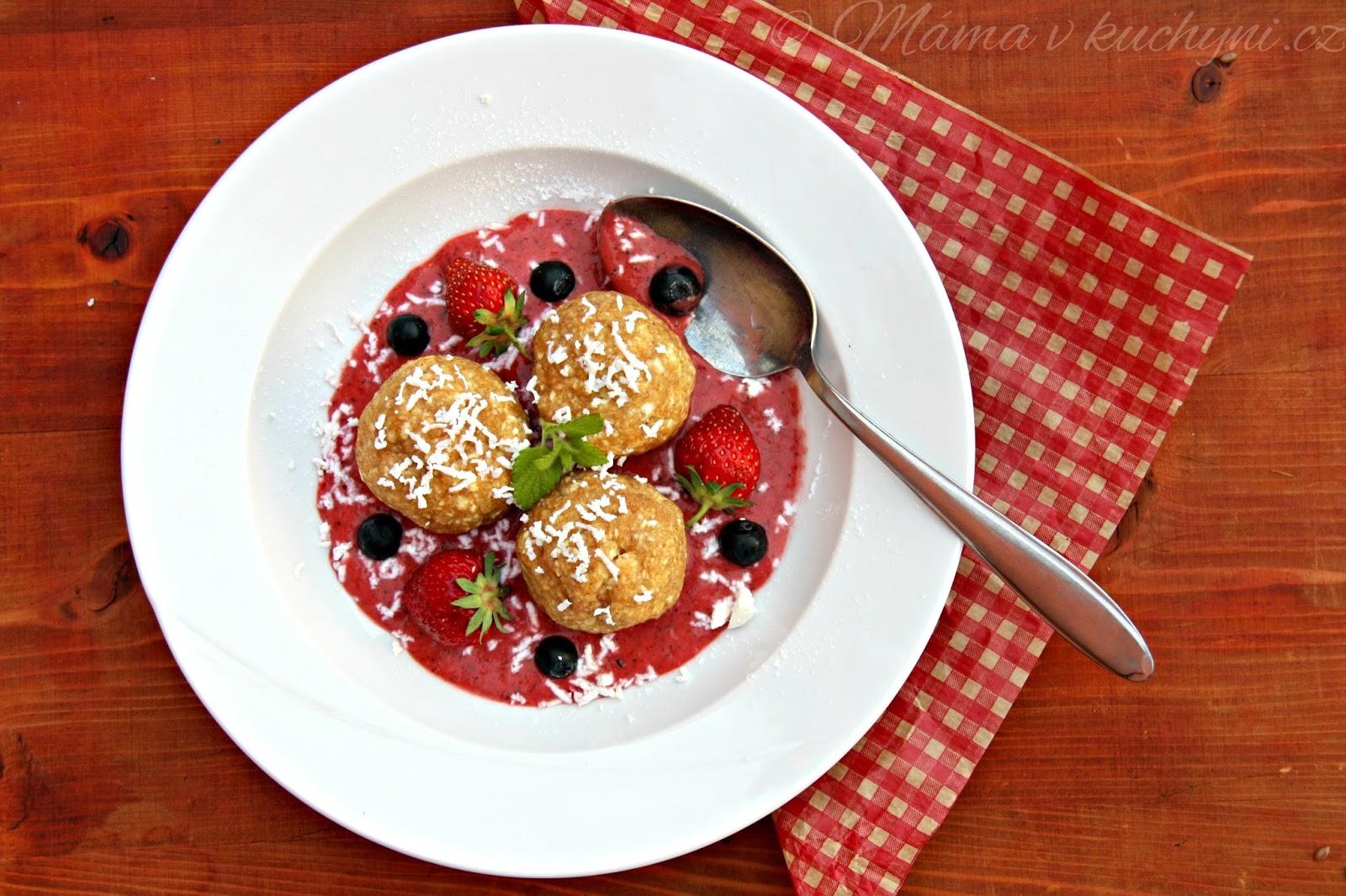 Celozrnné jahodové knedlíky (od 1 roku)