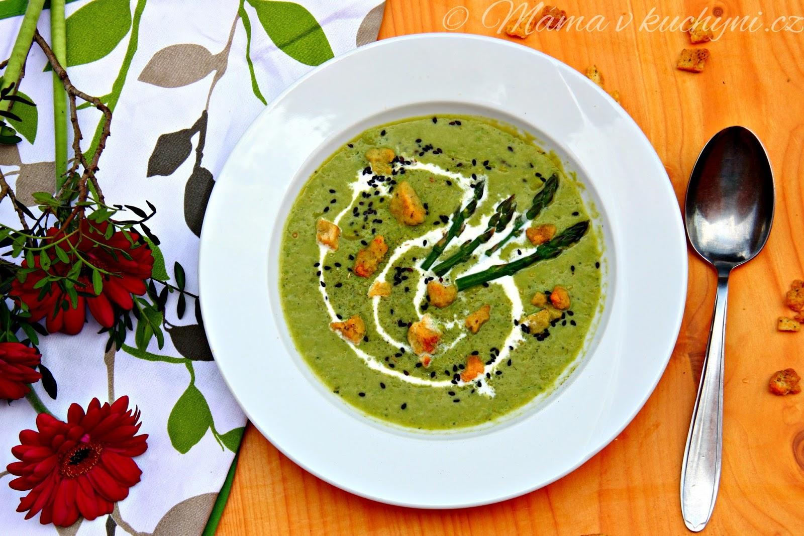 Chřestovo-hrášková krémová polévka (od 9 měsíců)