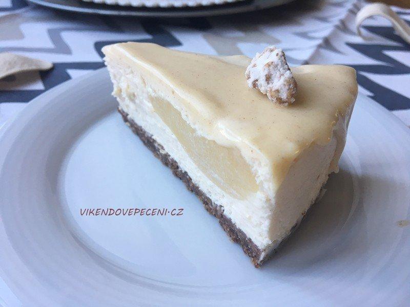 Cheesecake s hruškami, zázvorem a bílou čokoládou