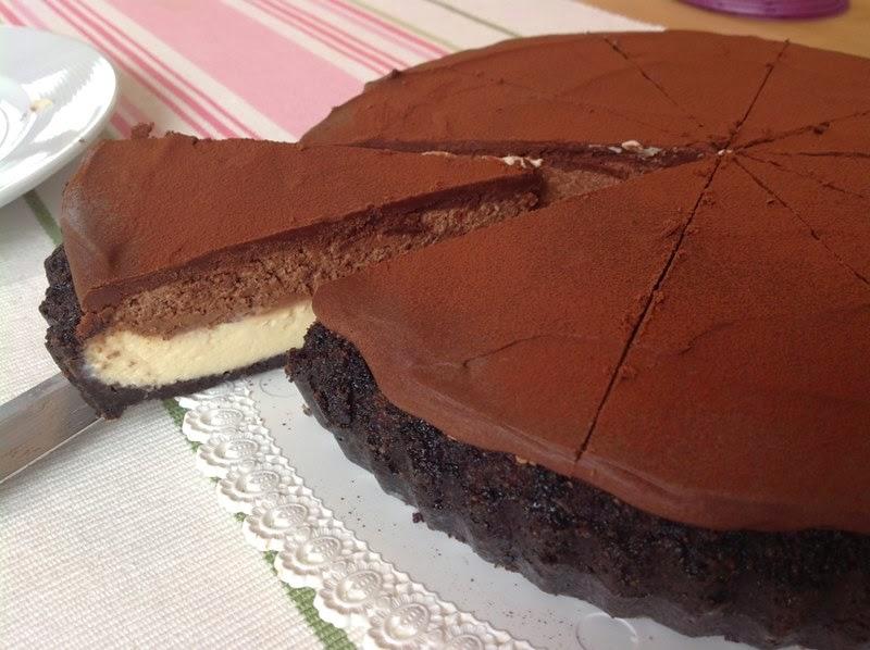 Cheesecake s čokoládovou pěnou