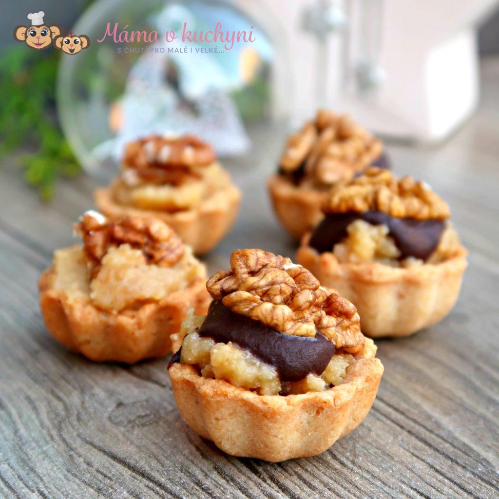 Mandlové linecké košíčky s ořechovou náplní (od 2 – 3 let)