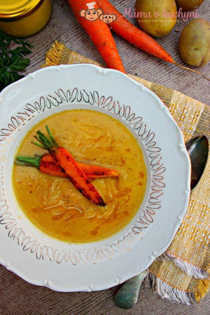 Cuketová krémová polévka s mrkví (od 6 měsíců)