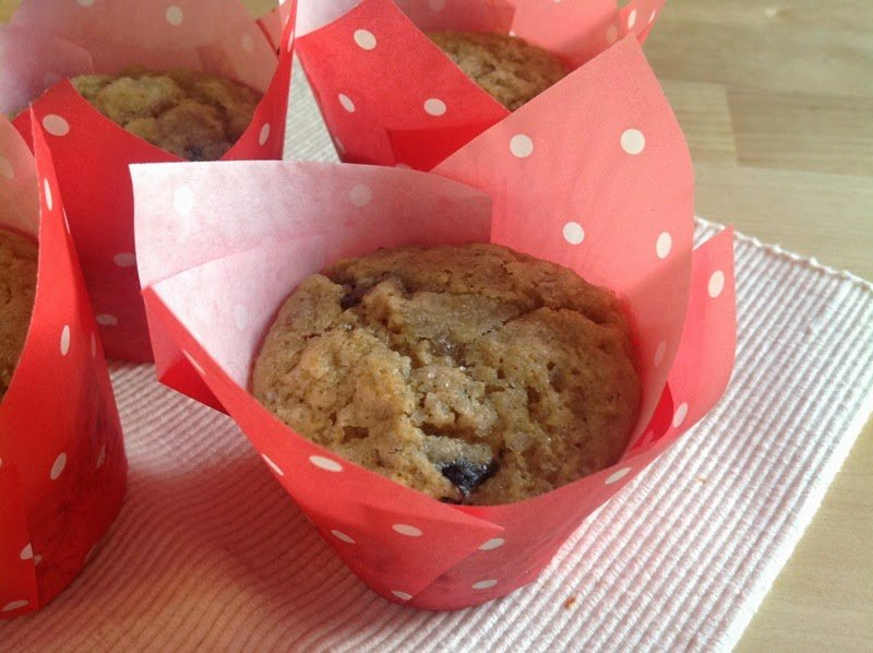 Špaldové muffiny se sušenými švestkami