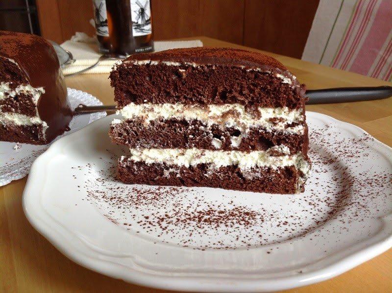 Čokoládový dort s tvarohovým krémem