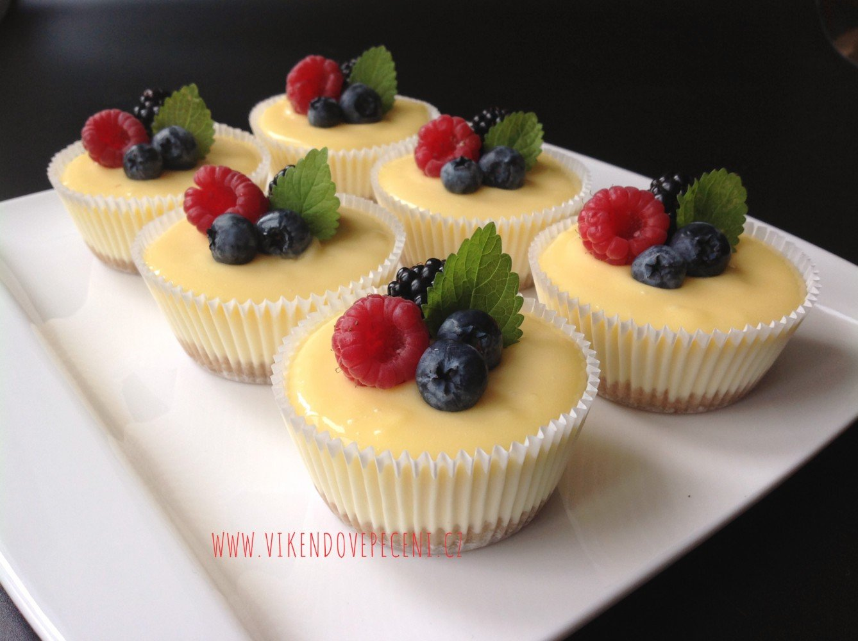 Mini cheesecakes s citronovým krémem