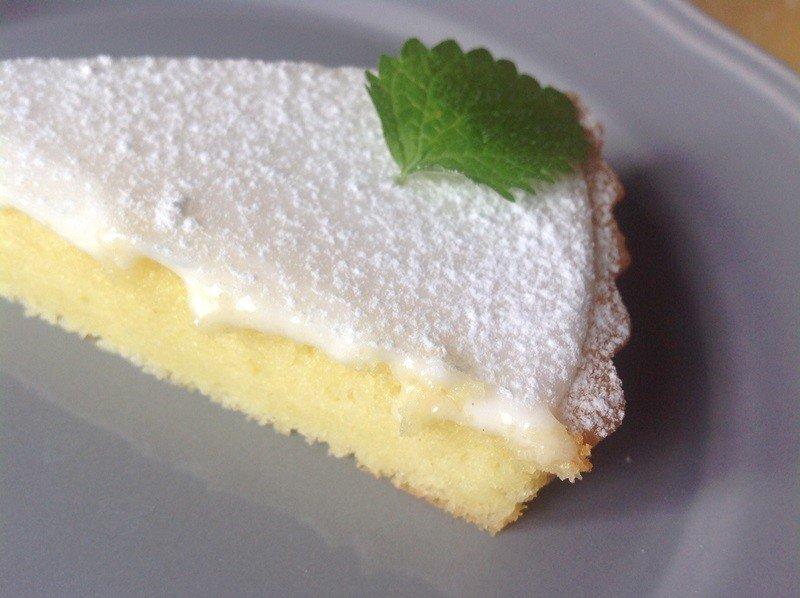 Citronový koláč s ricottou a olivovým olejem