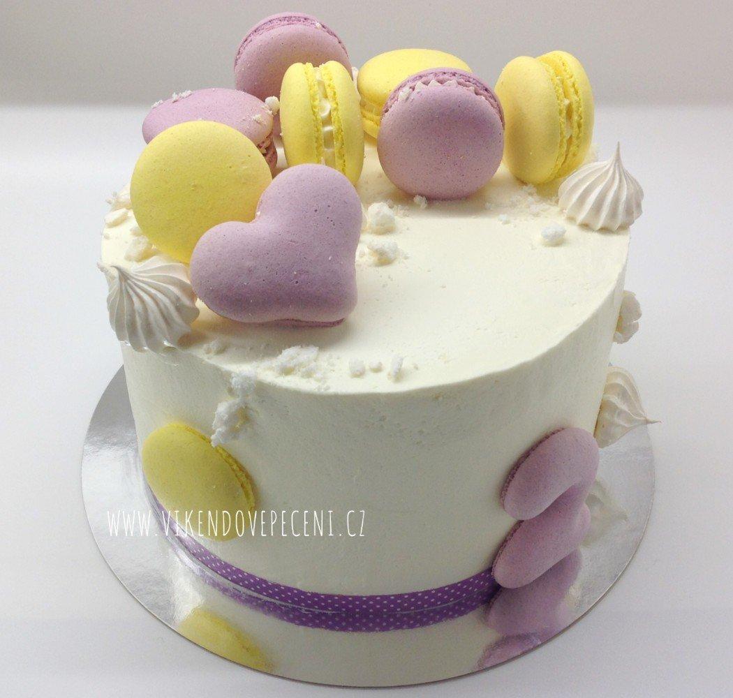 Borůvkovo-citronový dort