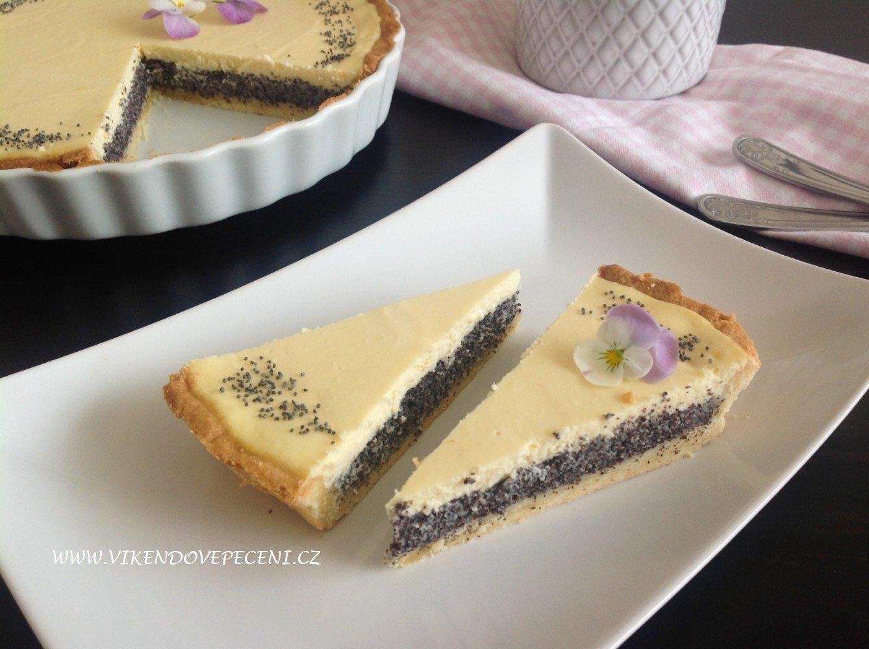 Tvarohovo-makový koláč