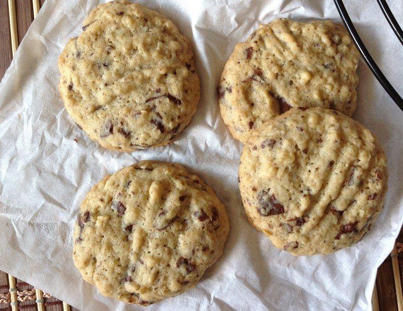 Cookies s čokoládou a ovesnými vločkami
