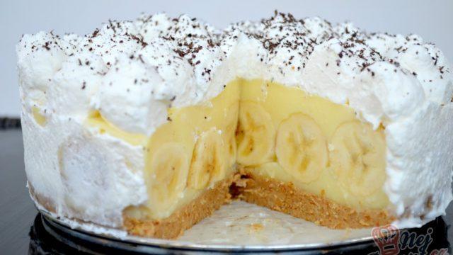 Famózní banánový nepečený dort