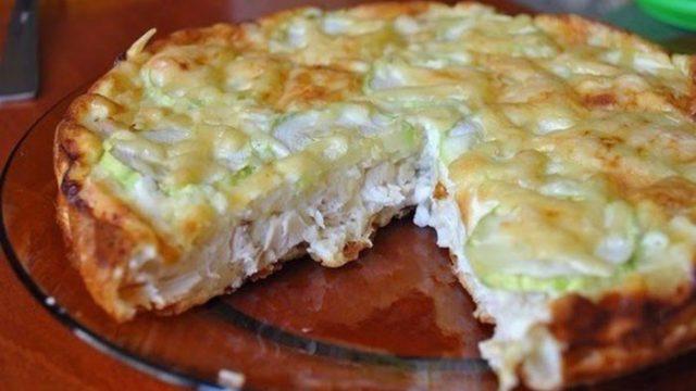 Kuřecí dort s vajíčky a sýrem